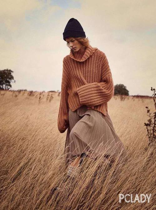 毛衣配半裙才是秋冬最慵懒的打开方式,时髦炸了